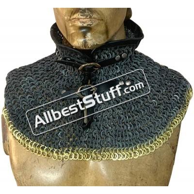 Flat Riveted Maille Collar Aluminum