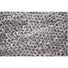 10 X 10 inch Square 18 G 9 MM Stainless Steel Maille Sheet