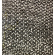 20 X 40 inch Dome Riveted 18 G 9 MM Stainless Steel Chain Mail Sheet