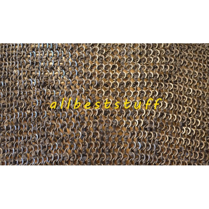 6 MM Dense Flat Riveted alternating Solid Ring Sheet Medium
