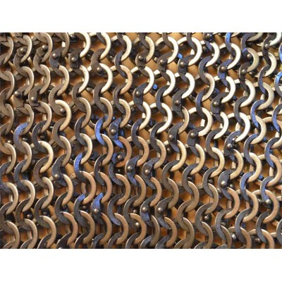 9 MM Flat Riveted alternating Solid Chain Mail Sheet Medium