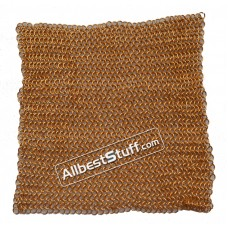 Aluminum Chain Mail Sheet Butted Gold Anodized Aluminum Rings