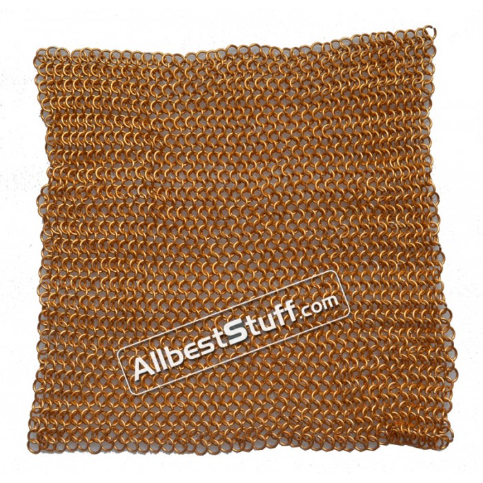 Aluminum Chain Mail Sheet Butted Gold Color Aluminum Rings
