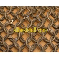 Round Riveted Light Weight Aluminum Chain Mail Sheet Medium