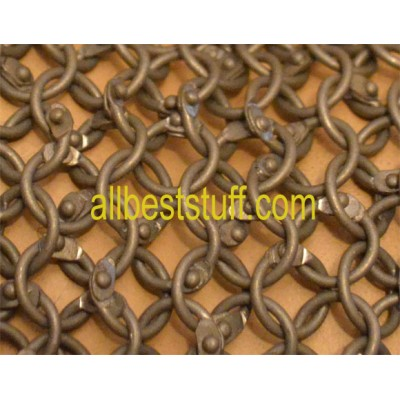SALE! 16 Gauge Full Round 9 MM Chain Mail Sheet 14 X 8 inch