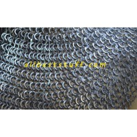 Wedge Riveted Chain Mail Sheet alternating Solid Washer Medium