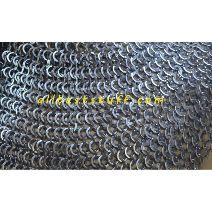 Wedge Riveted alternating Solid Washer Maille Sheet