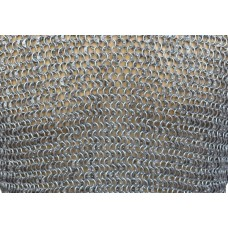 Full Round 8 MM 17 Gauge Square Maille Sheet 12 X 12 inch