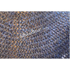 Full Round Riveted 16 Gauge Maille Sheet Multiple Loose Rings Rivets