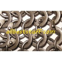 Round Riveted Flat Solid 16 Gauge Chain Mail Sheet 30 X 30