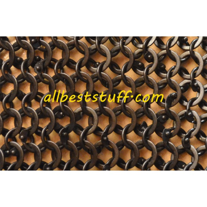 Round Riveted Flat Solid Heavy Chain Maille Sheet