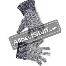 Round Riveted Ring Chain Mail Finger Gloves