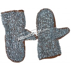Full Round Riveted 16 Gauge Chain Mail Mittens