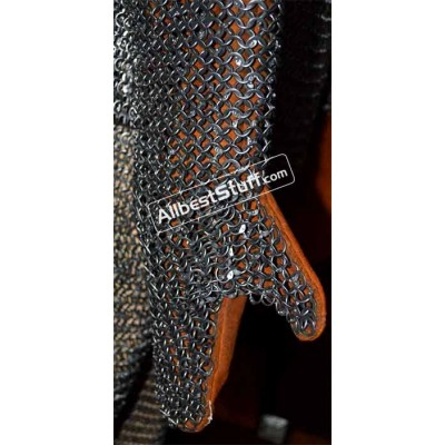 Round Riveted Flat Solid Chain Mail Mittens