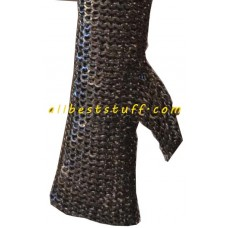 Flat Riveted Solid Full Maille Mittens 18 Gauge