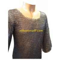 Large Flat Riveted Solid Maille Hauberk Chest 40