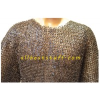 9 mm Flat Riveted Chain Mail Hauberk for Chest 36