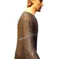 9 mm Hauberk Large Flat Dome Riveted Maille Chest 45