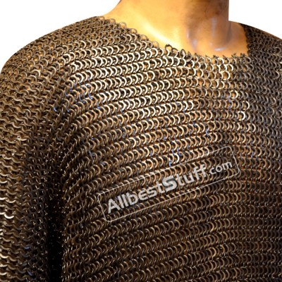 SALE! 9 mm Mushroom Riveted Chain Mail Hauberk Chest 40