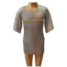 Chain Mail Hauberk Flat Riveted Maille for Chest 42