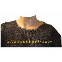 Chain Maille Haubergeon Flat Solid Mushroom Riveted for Chest 46