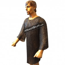 Chain Mail Hauberk Flat Riveted Flat Washer Maille Chest 45