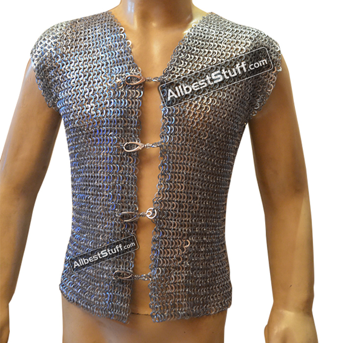 Chain Mail Riveted Club Jacket with Metal Clasp XL Size
