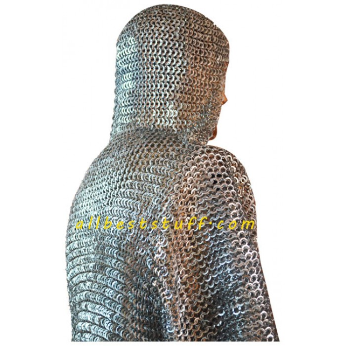 03 Quantity 8mm Chain mail Large Flat Rivet Flat Solid Ring Hauberk and Integrated Coif