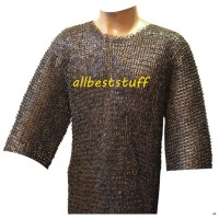 Chest Size 60 8 mm Riveted Hauberk Flat Solid Ring