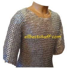 European Medieval Chain Maille Armour 8 mm Chest 52 Flat Riveted
