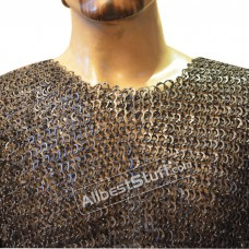 Extra Large Hand Made Maille Armour Full Flat Riveted Chest 56