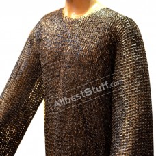 Extra Long Riveted Maille Hauberk Large 48 Chest