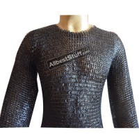 8 mm Dome Riveted Chain Mail Hauberk Solid Ring Chest 48