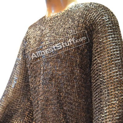 XXL 9mm Full Flat Riveted Chain Mail Hauberk for Chest 62