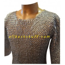 Large Chain Mail Shirt 8 mm Flat Riveted Alternate Solid Chest 45