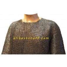 Full Flat Riveted Hauberk for Chest size 38 Length 40