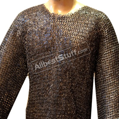 Hand Made Chain Mail Vikings Armour Full Flat Riveted Chest 54