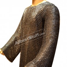 Large Chain Mail Chest 45 Full Sleeve 9 mm Flat Mushroom Riveted