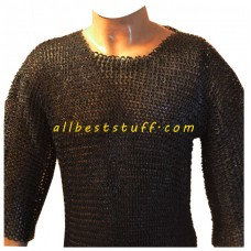Medieval Maille Armour Dense 8 mm Flat Riveted Solid Chest 50