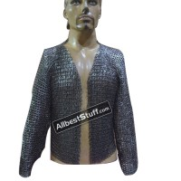 Medieval Maille Half Shirt 8 mm Flat Riveted Solid