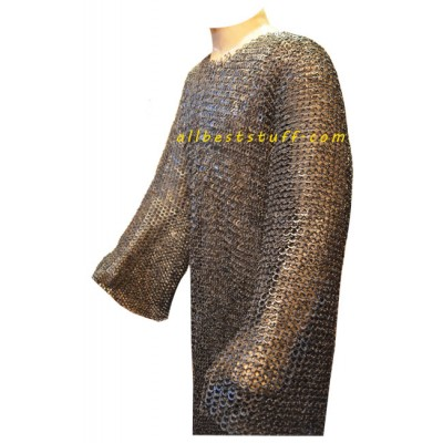 SCA Chain Mail Hauberk Chest 50 Extra Long 8 mm Riveted
