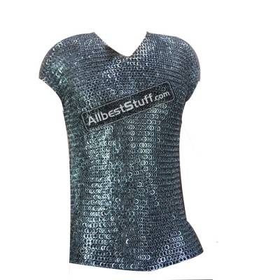 Best Flat Riveted Vikings Maille Armour XL Chest 52 Sleeveless