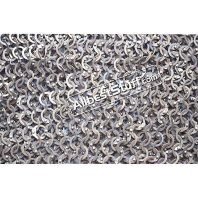 18 Gauge Full Flat Riveted Titanium Maille Skirt