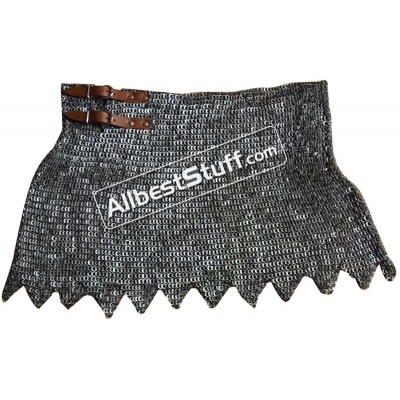 6 mm Round Riveted Alternating Solid Ring Maille Skirt