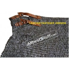 6 mm Flat Riveted Alternating Solid Ring Maille Skirt