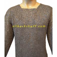 6 mm Ancient Chain Mail Shirt Round Riveted Flat Solid Chest 40