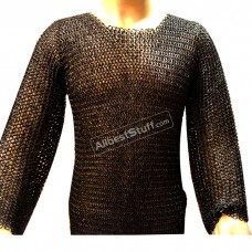 Round Riveted Flat Solid Maille Large Chest 44 Short Sleeve