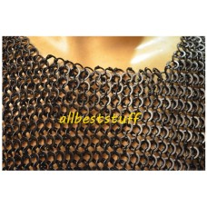 Round Riveted Alternating Solid Ring Chain Mail Shirt Chest 44