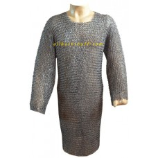 Full Sleeve Chain Mail Hauberk Long Length Large Chest 42