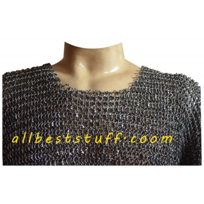 Round Dome Riveted Chain Mail Shirt Long Comfort Chest 38
